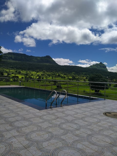 Water Fall Touch 4 BHK Bungalow With Private Pool