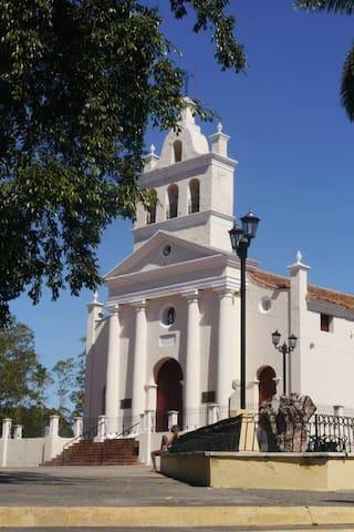 "Park the Carmen . Church ""Nuestra Señora del Carmen"""