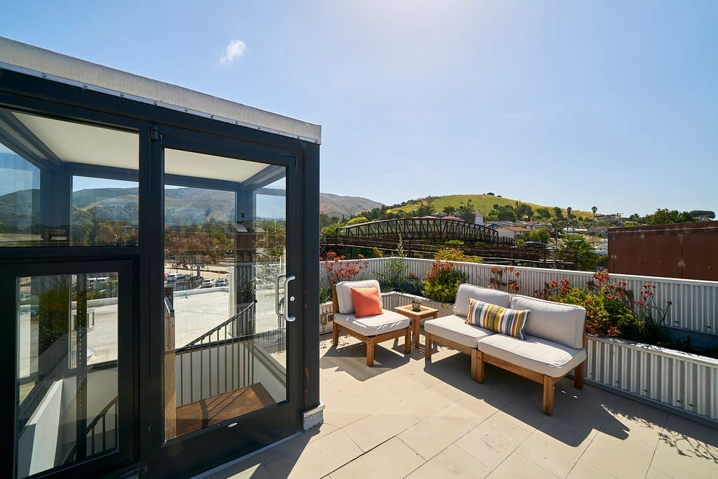 Private Roof Deck with 360 degree views