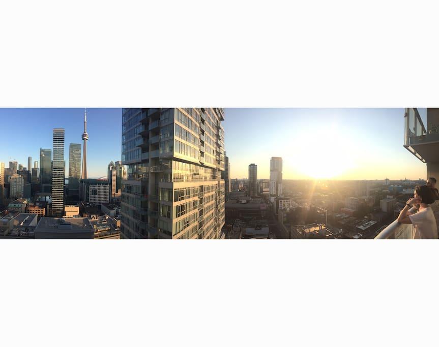 Incredible sunsets, panoramic view