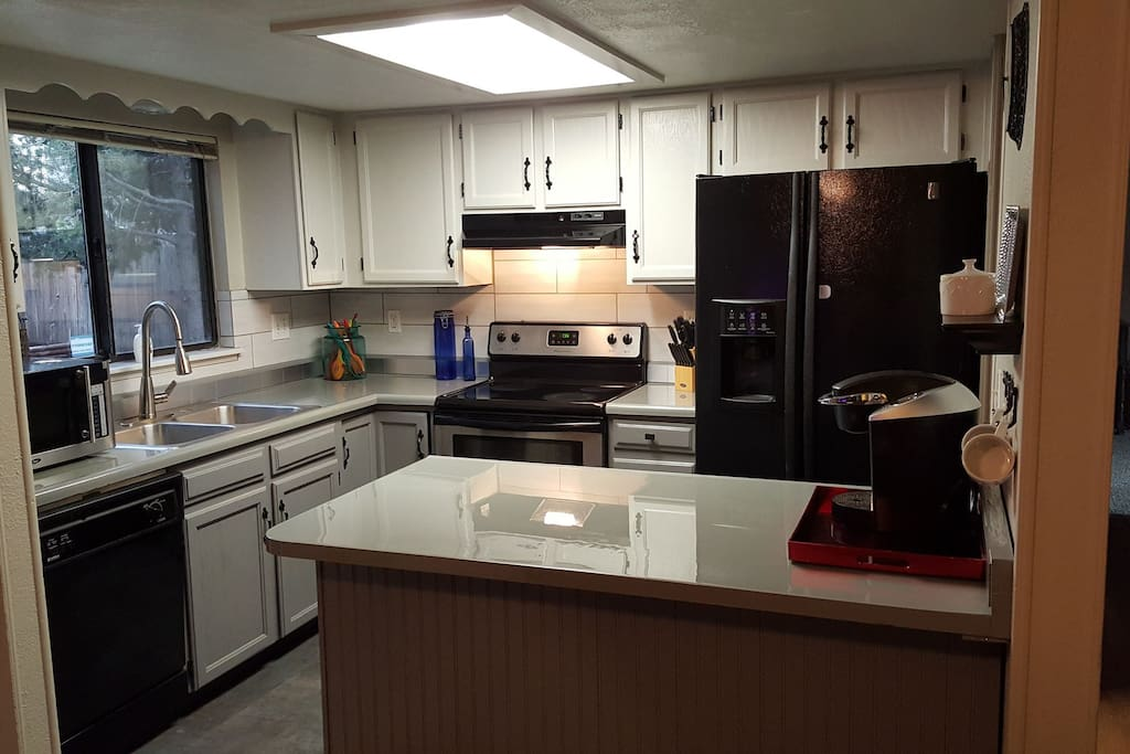 Newly remodeled kitchen with a Keurig and everything you'll need.