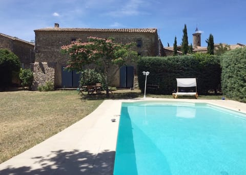 Near Uzès: Restored Magnanerie with swimming pool