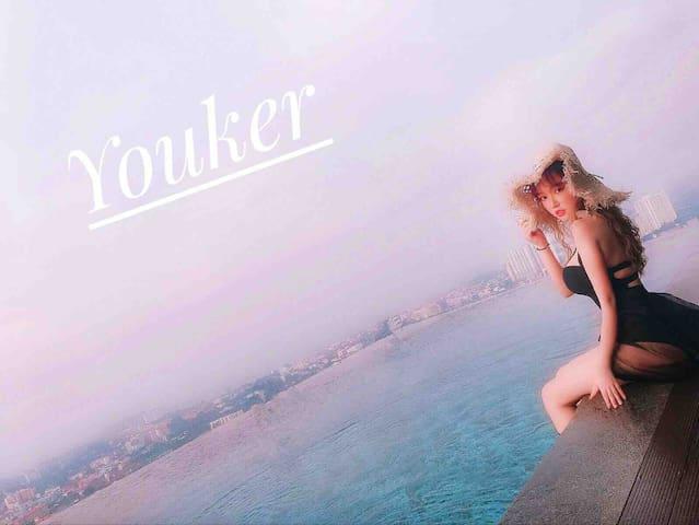 Youker#Pattaya posh精装酒店式公寓,高楼层海景,无边泳池,楼顶观城市全景