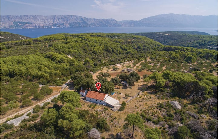 Awesome home in Pucisca with 1 Bedrooms