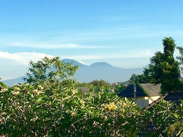 Eco-Lodge: volcano view, pool, roomy, cozy, quiet