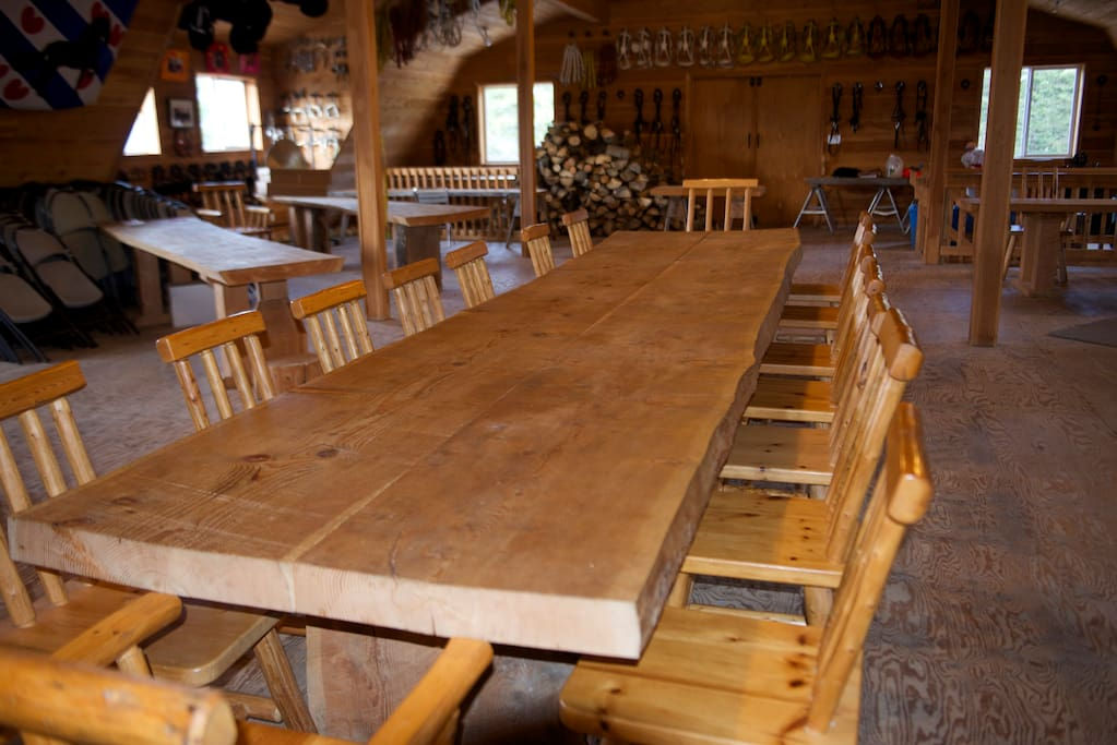 and.....the dining table but you can also use it for playing cards, etc.