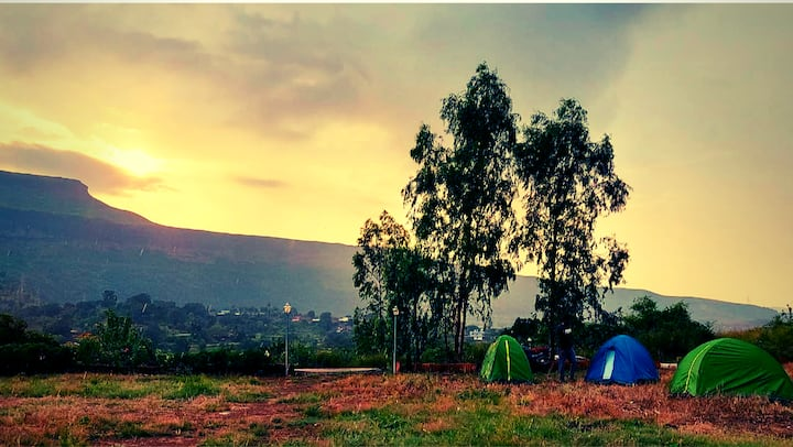 Tent stay at Takshashila Hill, near Darana river.