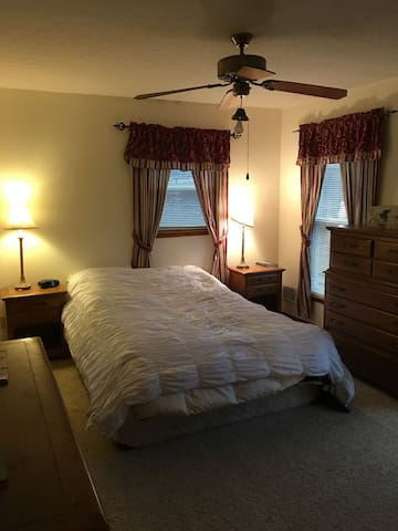 Bedroom at a Thoroughbred horse farm