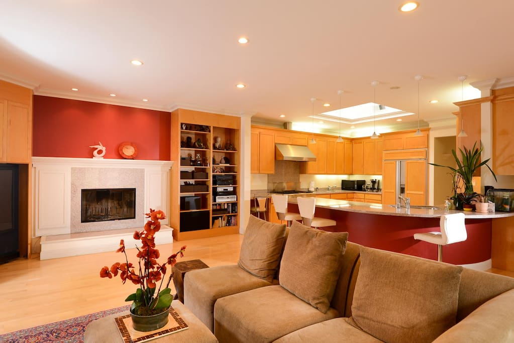 Family Room - View into Kitchen