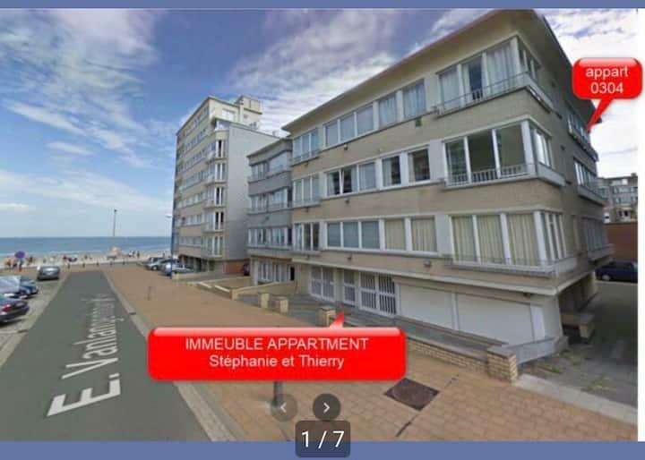Appartement à la mer Coxyde 4/6 pers plage à 20m