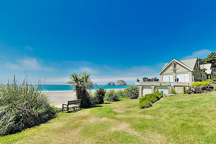 Spectacular Oceanfront Chateau | Steps to Beach