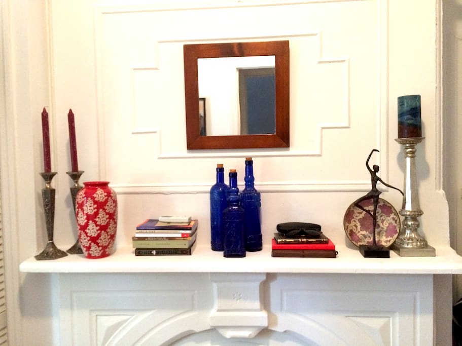 Private Room fireplace mantel