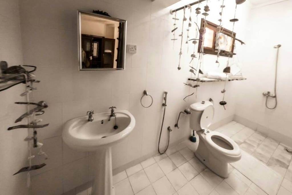 Private bathroom and shower,