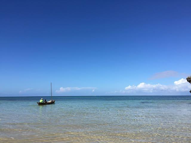 ビーチまで徒歩1分!石垣島北部の一棟貸し宿   最大10名まで宿泊可能