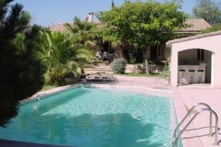 """Villa """" Les Palmiers""""  proche Avignon avec piscine"""