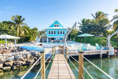 Gorgeous Gulf front home with dock, firepit, private pool, and gas grill!