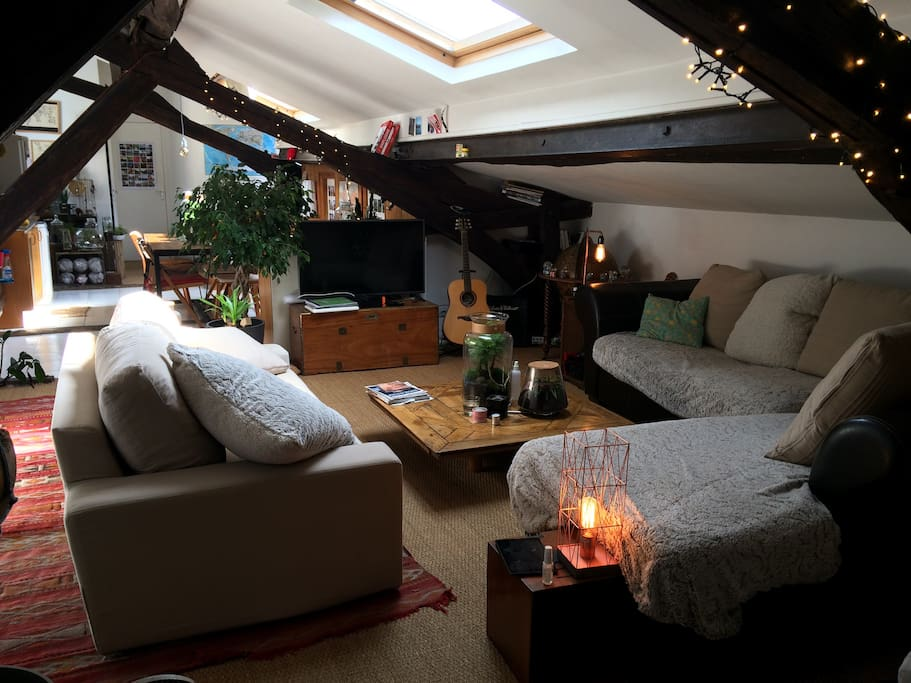 Loft atypique au calme bastille marais apartments for rent in paris l - Achat loft ile de france ...