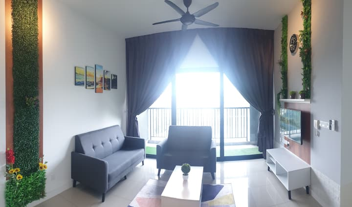 Stay-Bliss Home Puchong/New/8-10pax/Subang-KL♥️幸福家