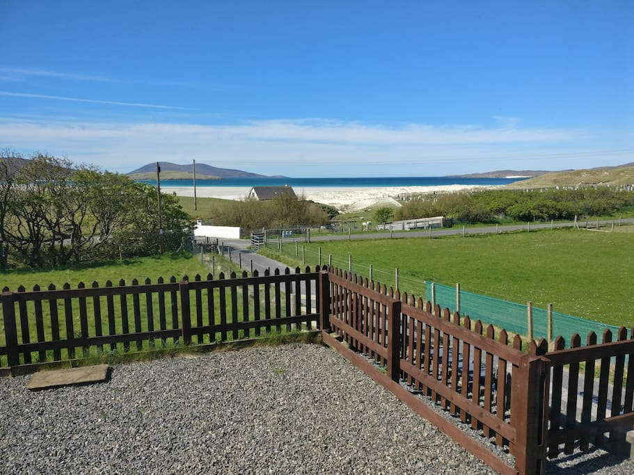 View from Cabin Onto Luskentyre Beach