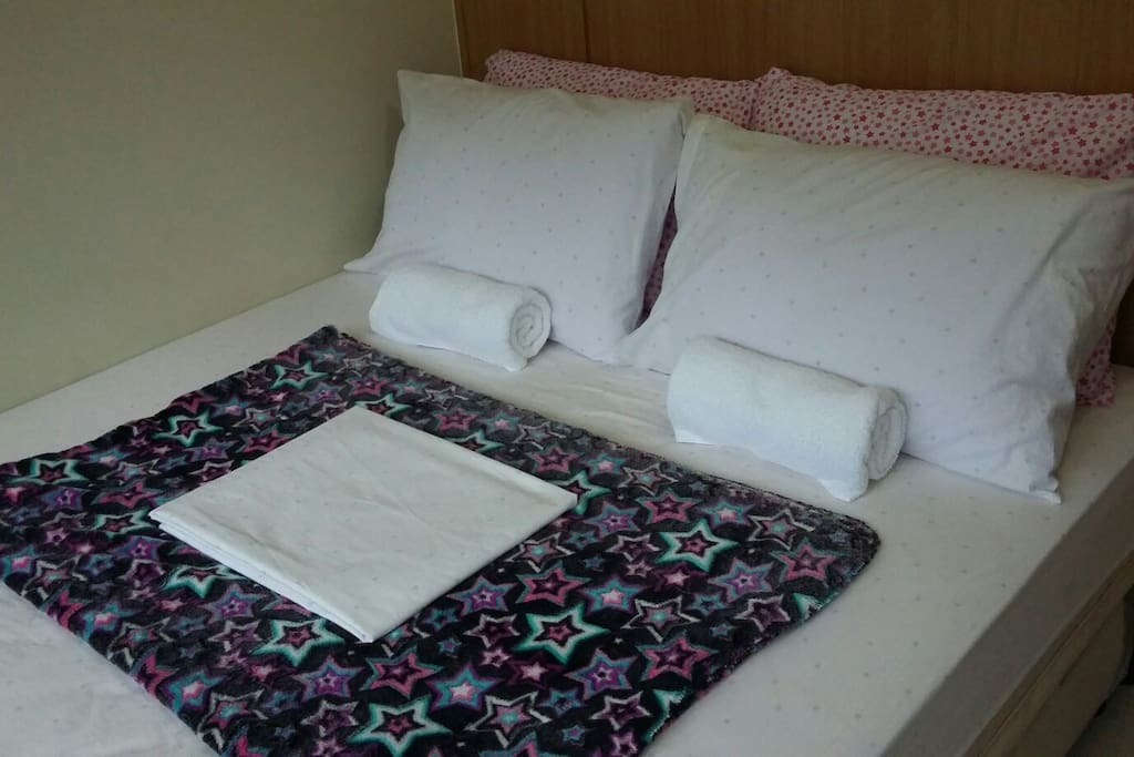 queen size bed for 2 pax and pullout bed for 1 pax