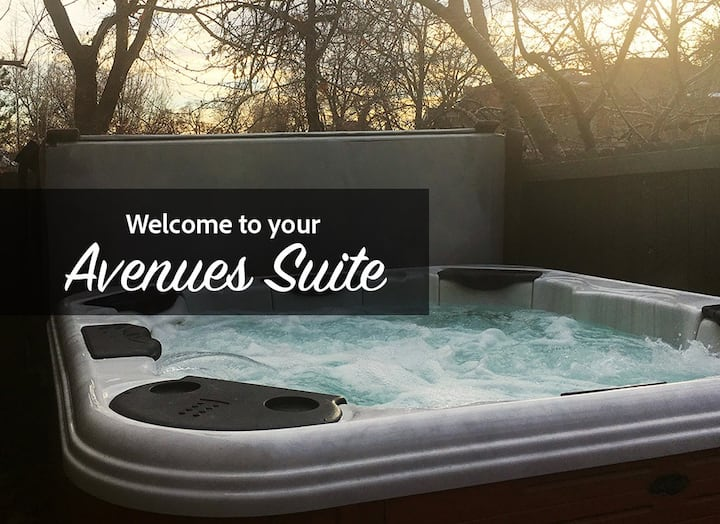 Suite w/ Hot Tub, Private Entrance & Laundry Rm!