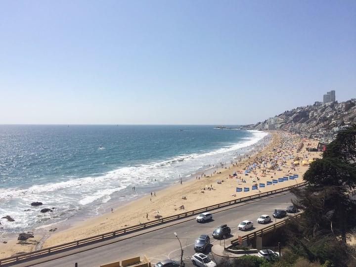 Lindo departamento en Reñaca, caminable playa!!