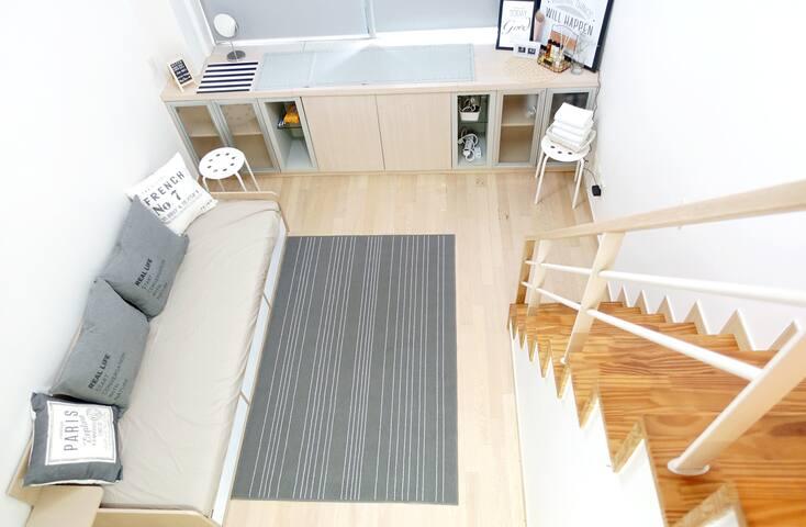 ★Private  LOFT Studio[Full Equipped]樓中樓式的獨立套房 - Eunpyeong-gu - Hotellipalvelut tarjoava huoneisto
