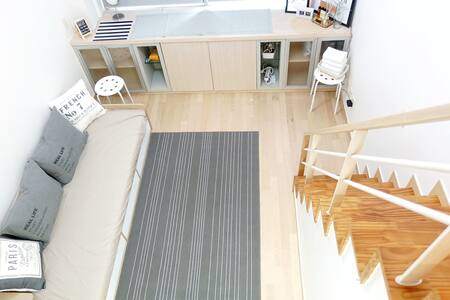 ★Private  LOFT Studio[Full Equipped]樓中樓式的獨立套房 - Eunpyeong-gu