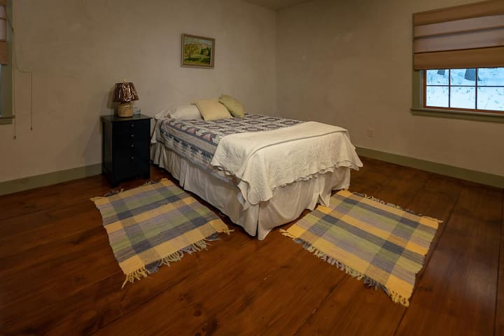 Spacious bedroom with extra comfy memory foam mattress!  Large closet and dresser to tuck things away!