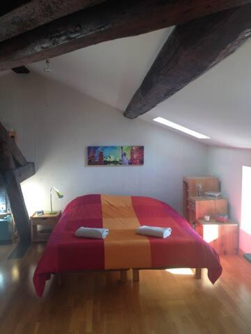 Une chambre mansardée au cœur de Lyon - Confluence