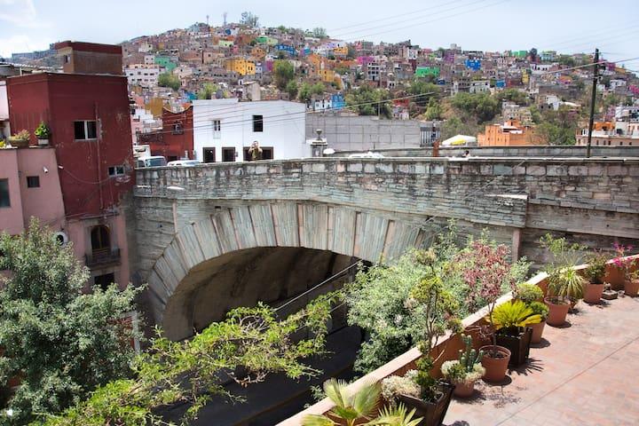 Vista desde la terraza a la ciudad