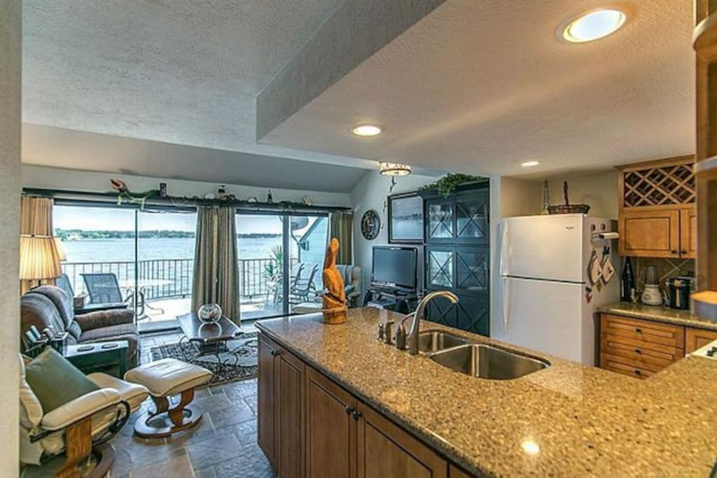 You'll love the view even from the kitchen.  And you can keep an eye on the fishermen