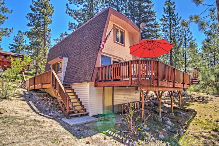 Relaxing 2BR Fawnskin Cabin - Fawnskin - Houten huisje