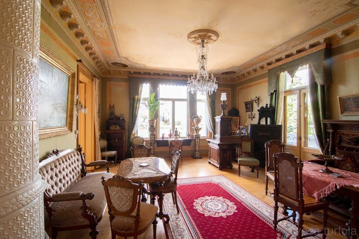 Historic Villa in the city with a sea bay view