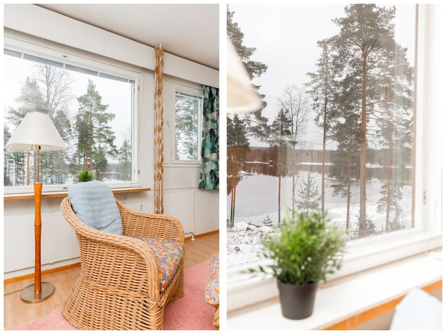 Saunallinen asunto Näsijärven rannassa