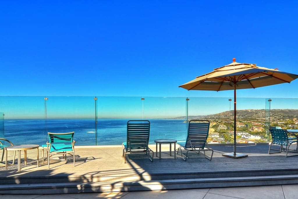Ocean view deck - pool to the left side