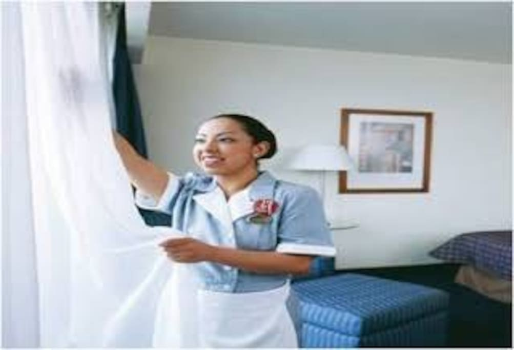 We have a VIP service for that we have cleaning service every day