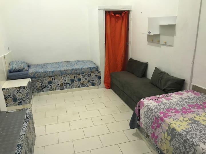 Quarto duplo 2 camas de solteiros