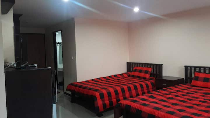 Separate  Twin beds, air conditioned and quiet