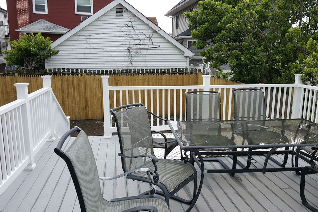 quiet outdoor deck