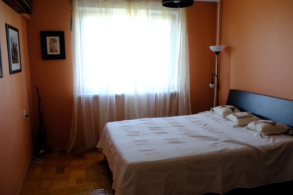 Bedroom 1. Double bed, Air-Con, Wardrobe
