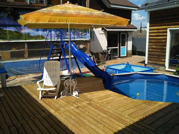 Домик в центре Суздаля,сауна и бассейн бесплатно.