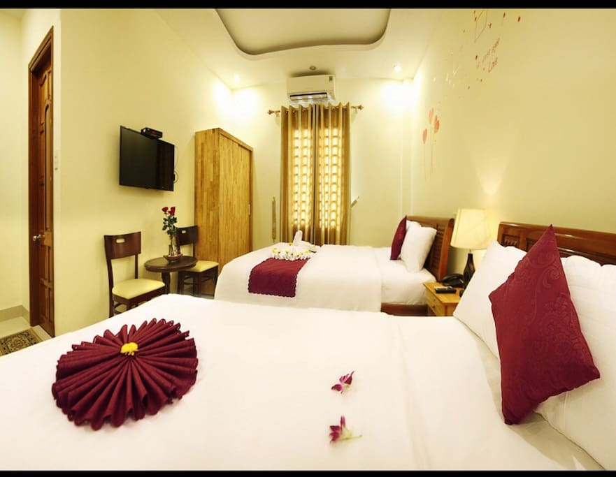 Each room features high speed wifi, a clean bathroom, cable tv, all for our guests.
