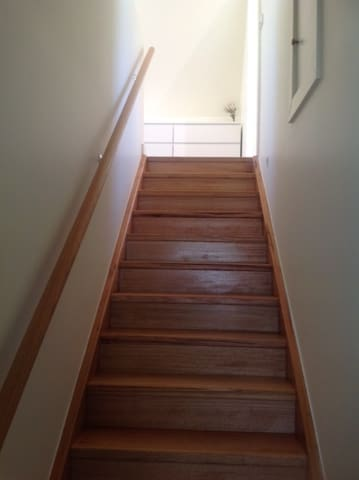 The stairway to your private lounge room with separate bedroom