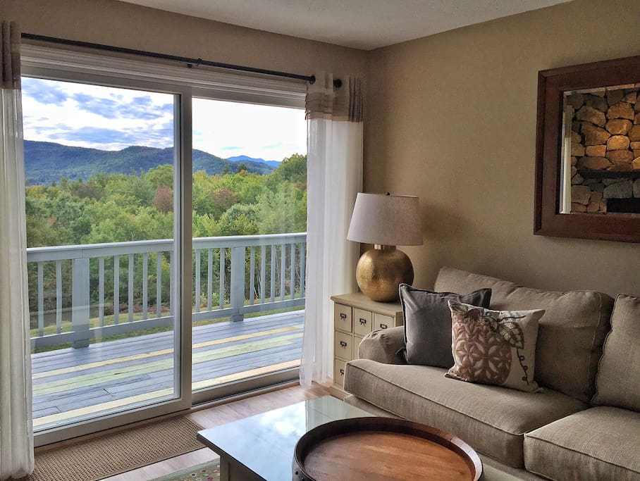 Nice wide patio doors to take in the mountain views.