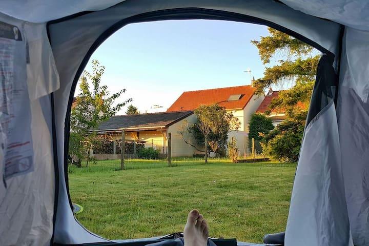 T2 / Tente dans jardin avec accès maisonnée