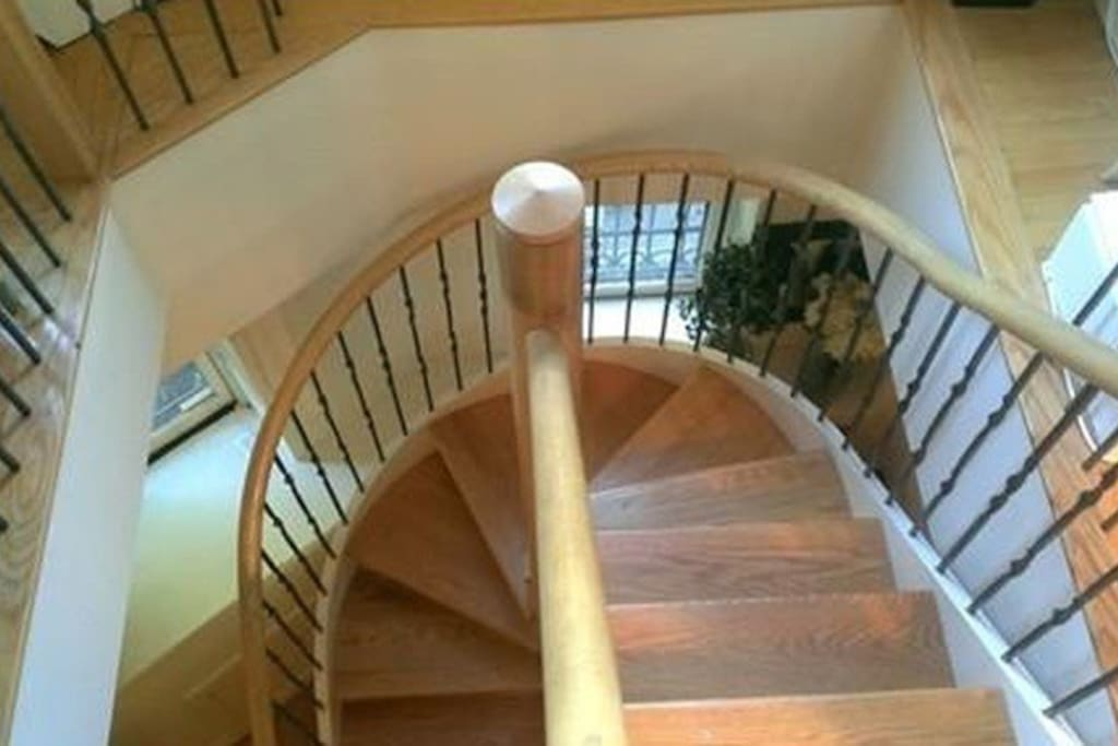 Staircase to downstairs area