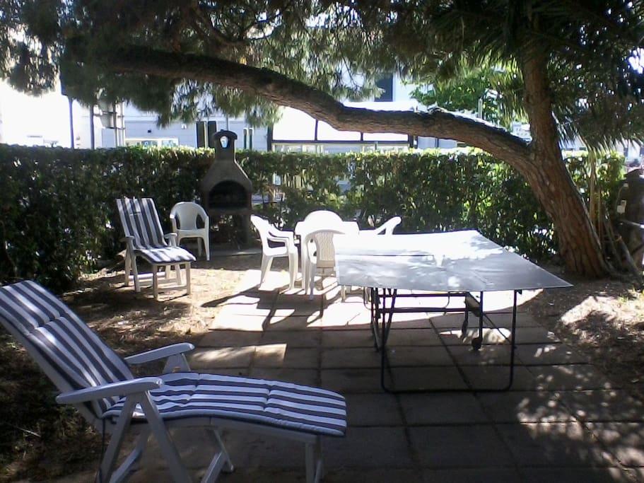 porzione privata del giardino
