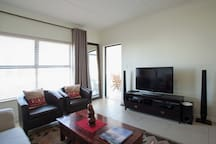 Lounge with TV, DSTV, Home Theater