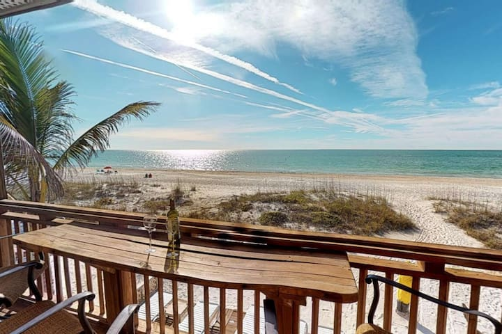 If this isn't your view, you need to change your latitude ! Toes in the sand beachfront paradise!